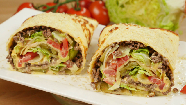 Big Mac Wrap I Big Mac Rolle I Glutenfrei und Low Carb