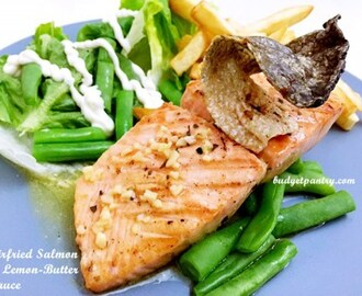 Airfried Salmon in Lemon-Butter Sauce