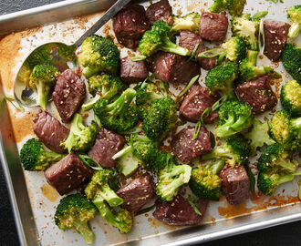 Sheet-Pan Sesame Beef and Broccoli