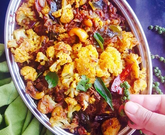 Chettinad Cauliflower Chukka Recipe / Spicy Dry Cauliflower Curry From Chettinad