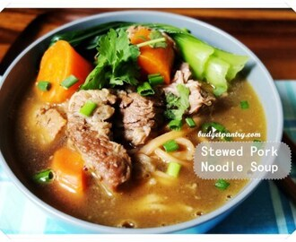 Stewed Pork Noodle Soup with Philips Noodlemaker
