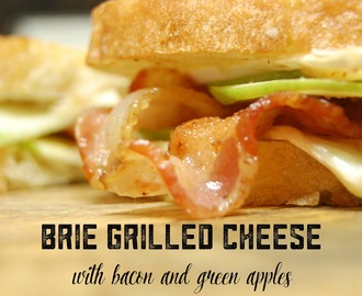 Brie Grilled Cheese with Bacon and Green Apples