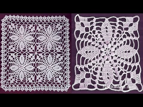 Crochet flower motif tutorial Part 2 How to join motifs