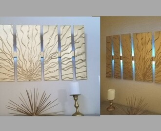 Diy Wall Decor with in built Lighting Using Cardboards Simple and Inexpensive Wall Decorating Idea