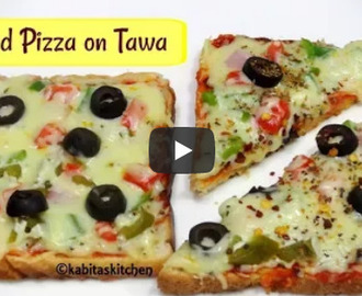 Bread Pizza on Tawa Recipe Video