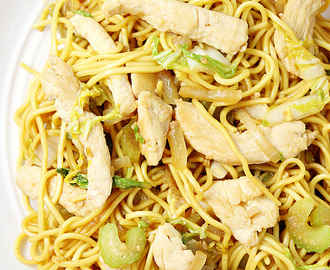 Spicy Chicken Chow Mein and Celebrating the Chinese New Year with Authentic Restaurant Inspired Asian appetizers!