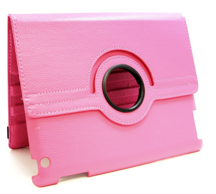 360 Fodral Apple iPad 2 iPad 3 iPad 4 (Hotpink)