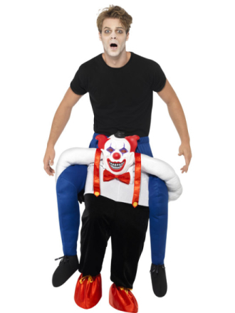 Piggy Back Sinister Clown Maskeraddräkt