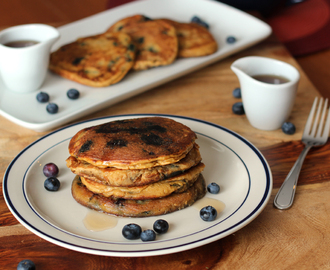 Gluten Free Coconut Blueberry Pancakes #loveyourcoconut