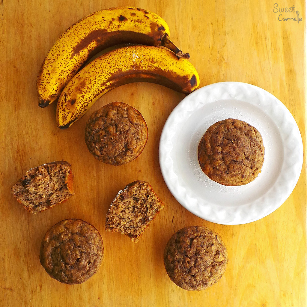 Banana Bread Muffins – Muffins Pan de Plátano