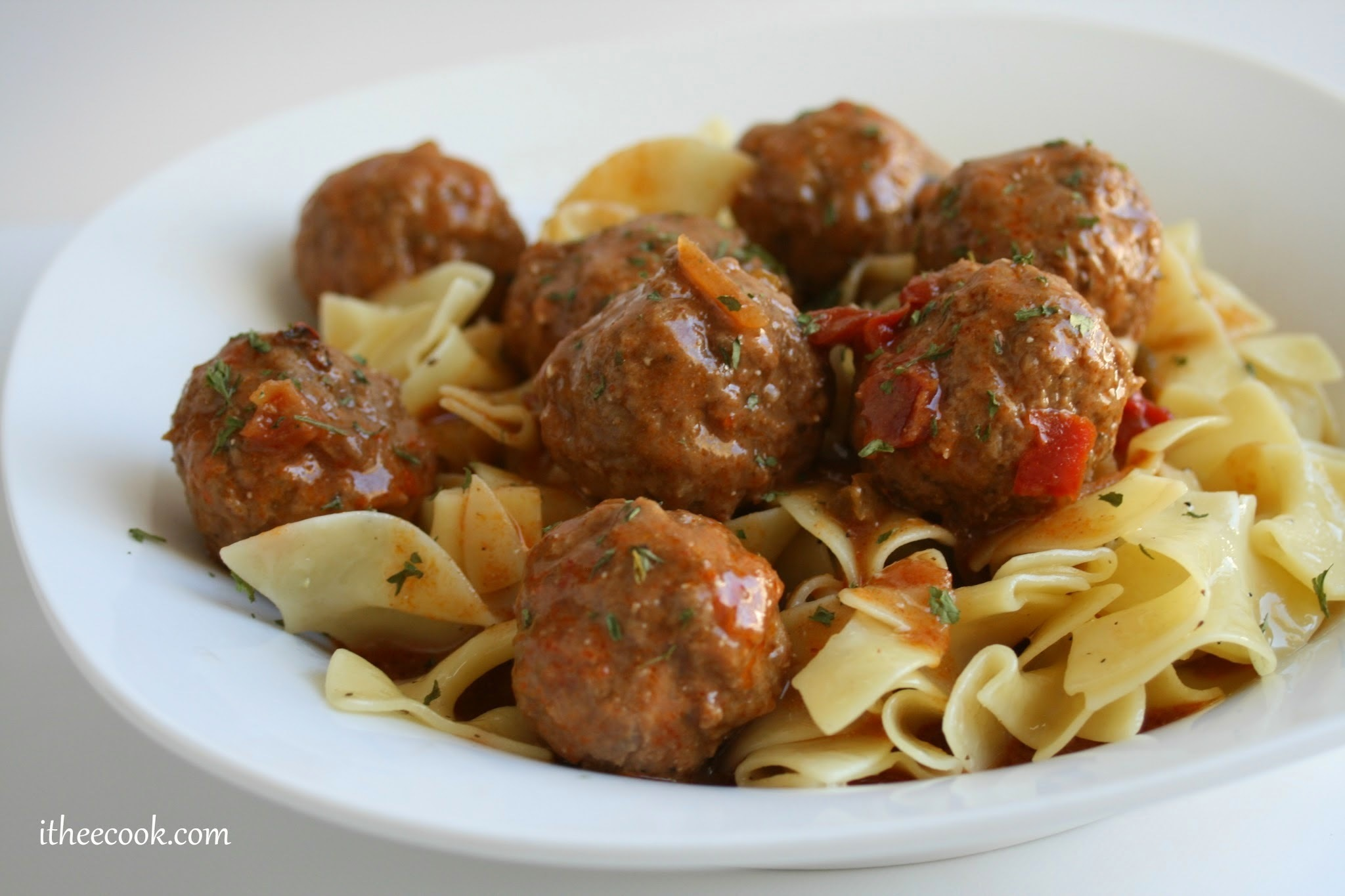 Slow Cooker Hungarian Meatball Goulash