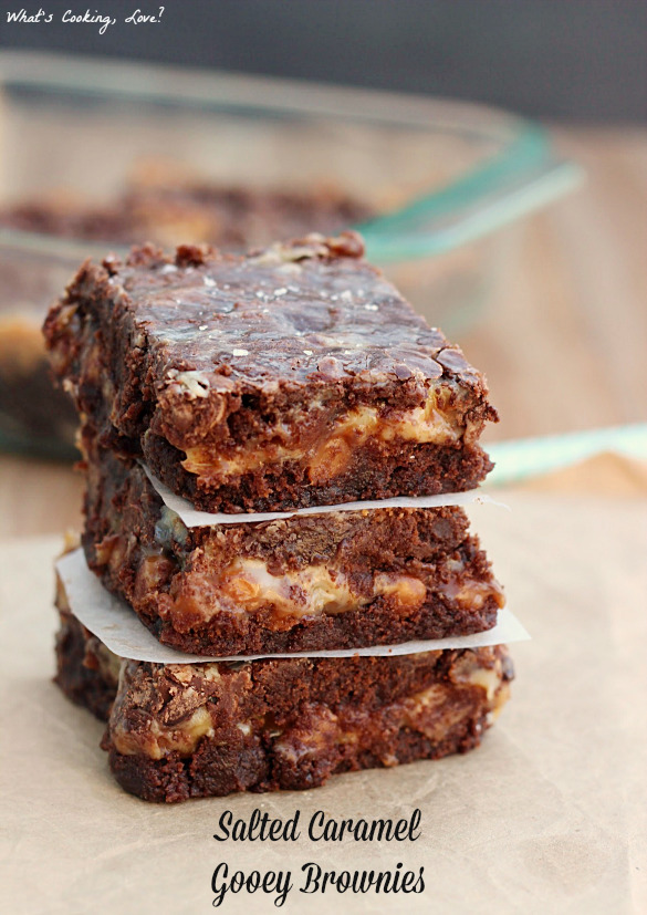 Salted Caramel Gooey Brownies