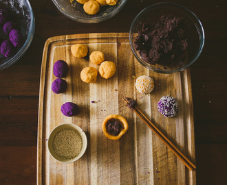 Sweet Potato Mochi Cakes, two ways
