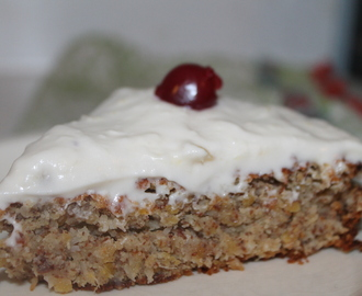 Flourless Pineapple Coconut Lentil Cake with Pineapple Cream Cheese Frosting