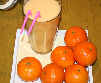 Tangerine apple smoothie