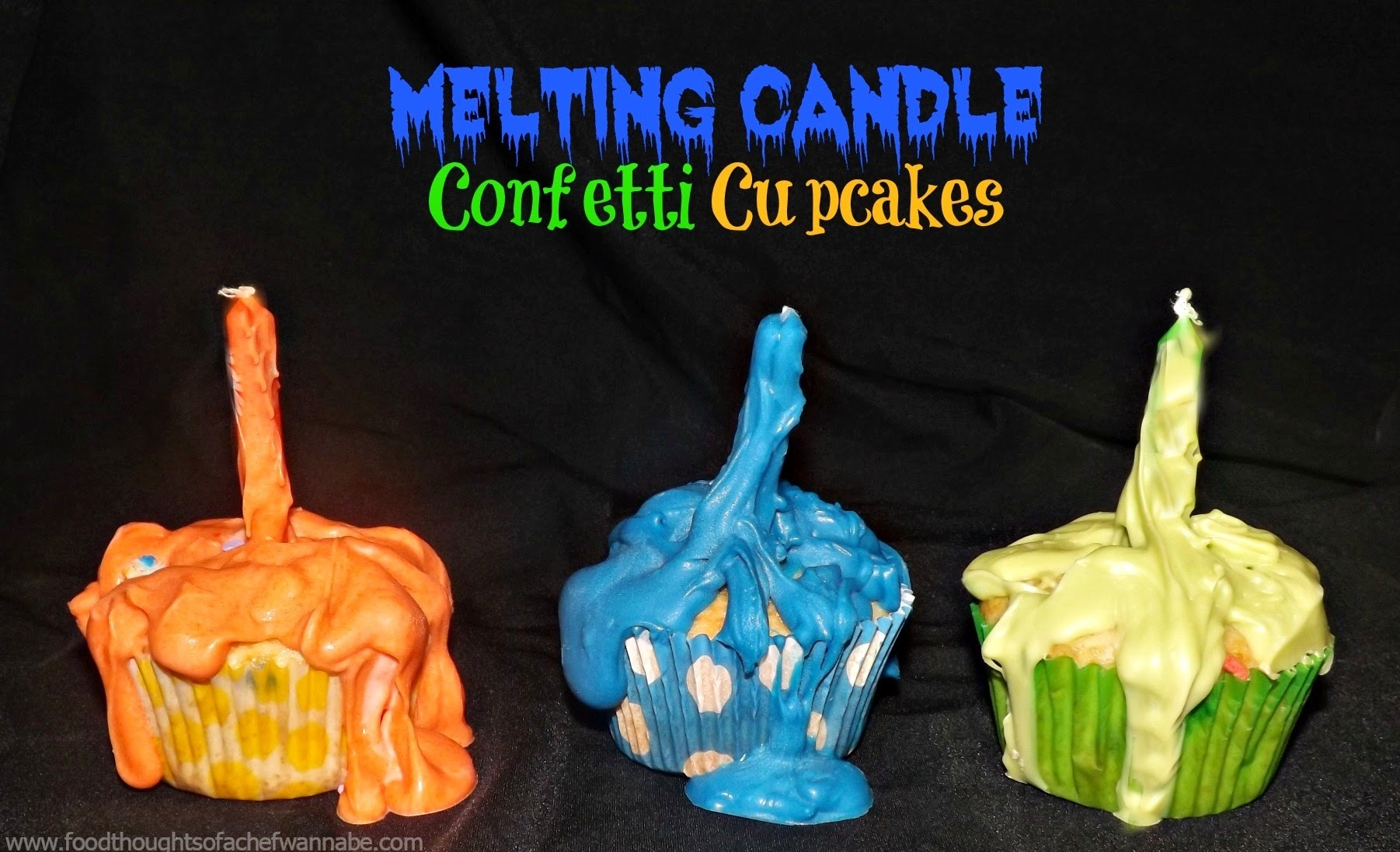 Melting Candle Confetti Cupcakes!