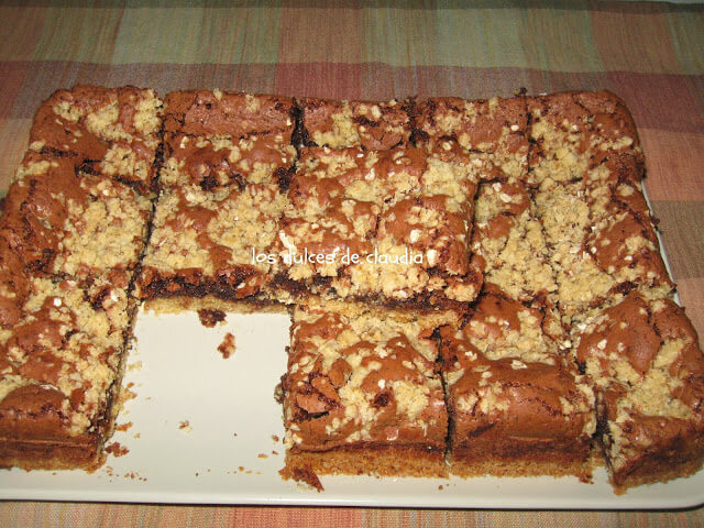 Brownies de chocolate con avena