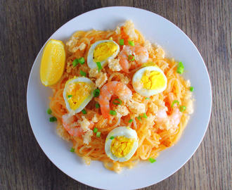 Palabok (Pilipino Noodles with Shrimp Sauce)