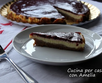 Cheesecake alle prugne, ricetta