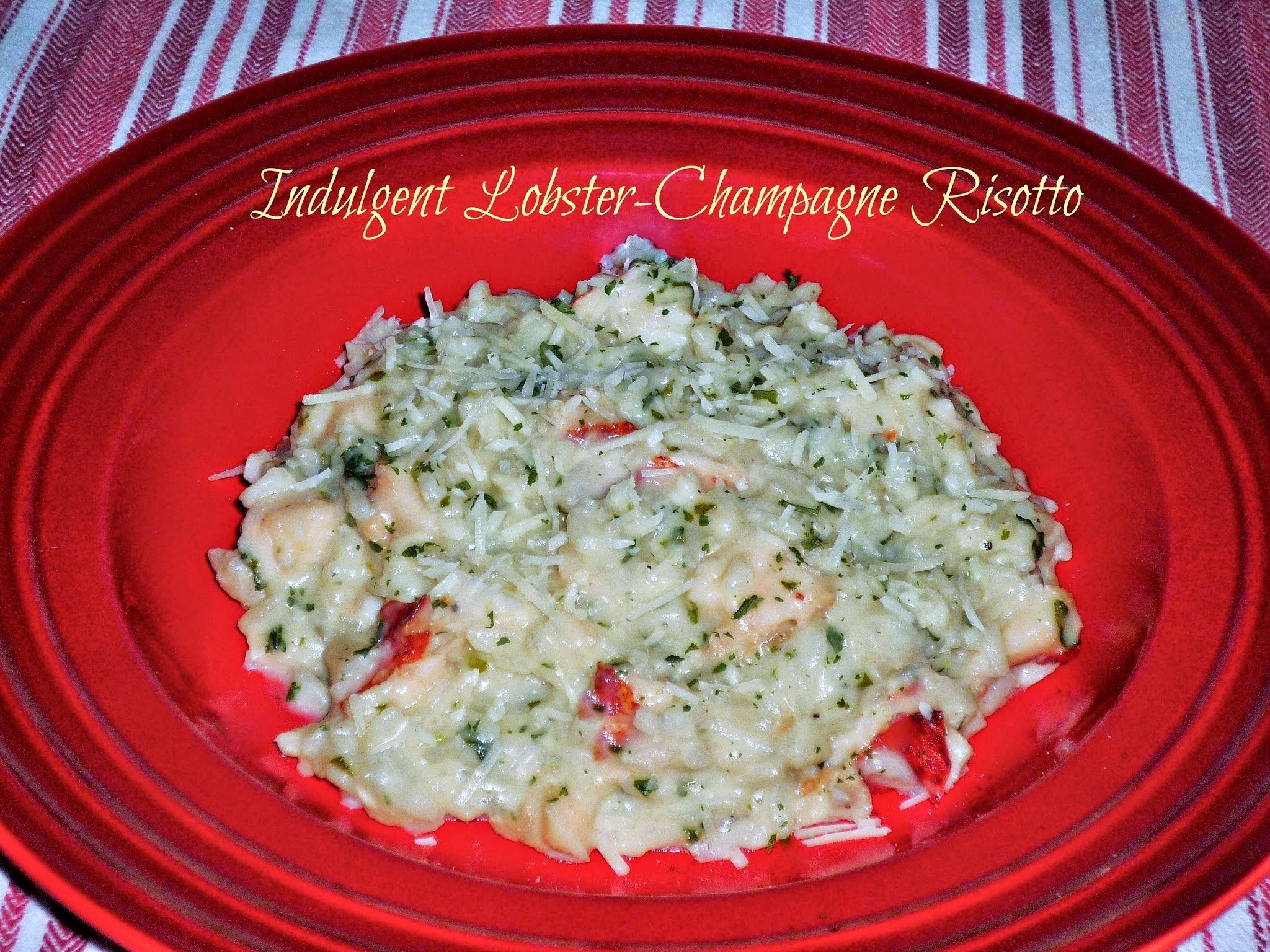 Red Carpet #SundaySupper...Featuring Indulgent Lobster-Champagne Risotto