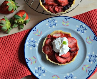 Mini Strawberry Galette #SundaySupper