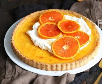 Orange Tart with Caramelized Oranges