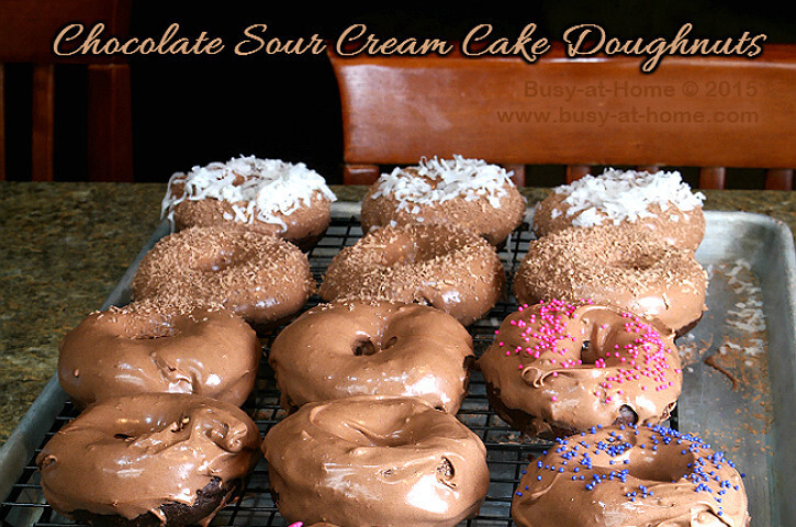 Easy, DELISH Chocolate Sour Cream Doughnuts