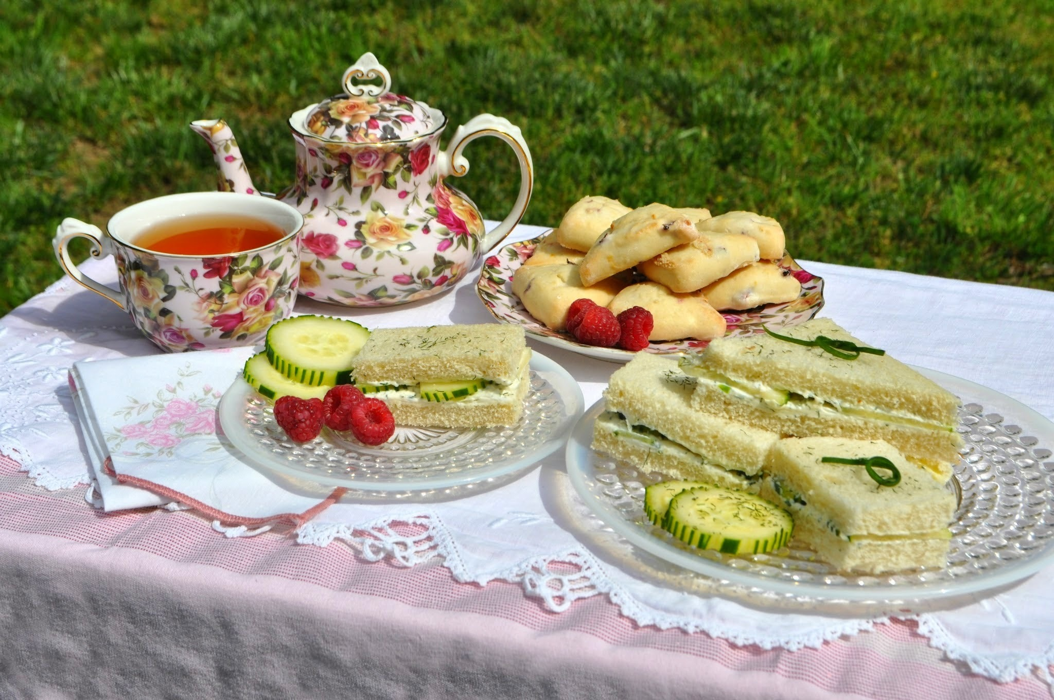 Welcoming Princess Cambridge with Cucumber Sandwiches and Tea