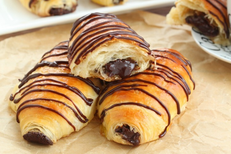 Pain au chocolat (chocolate croissants) made from scratch recipe with a step by step video