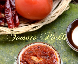 Tomato Pickle - தக்காளி  ஊறுகாய்- Summer special - Step by step