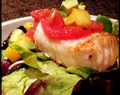 Chilean Sea Bass with Grapefruit, Mango and Avocado Relish