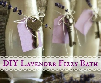 DIY LAVENDER FIZZY BATH SALTS: Nature's perfect remedy for much more than sore muscles.