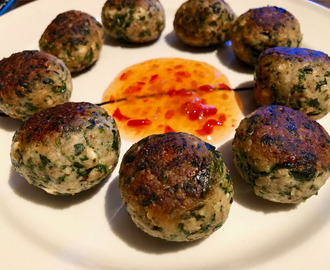 Chicken spinach balls with feta