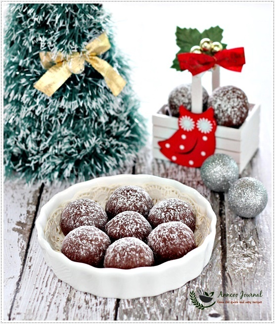 Chocolate Snowball Cookies 巧克力雪球