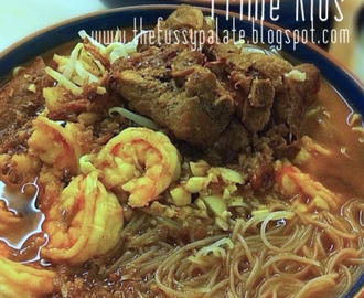 Prawn Noodles with Prime Ribs