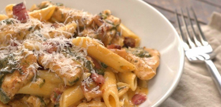 CREAMY CHICKEN BACON ZITI