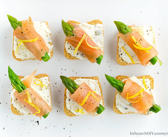 Smoked Salmon Canapés with Asparagus