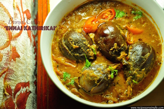 Brinjal Curry for Biryani – Ennai Kathirikai