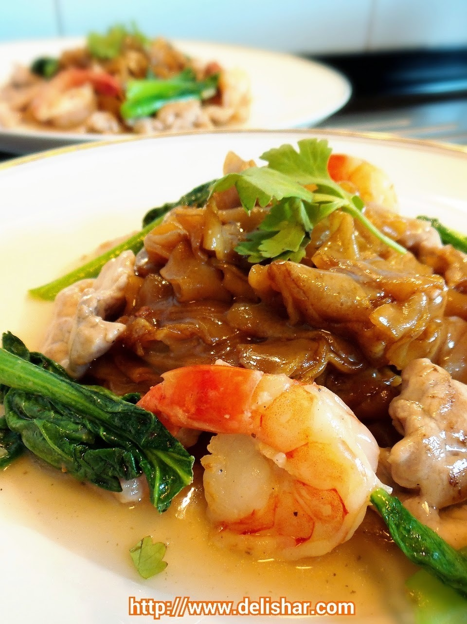 Hor Fun (Flat rice noodle in gravy)