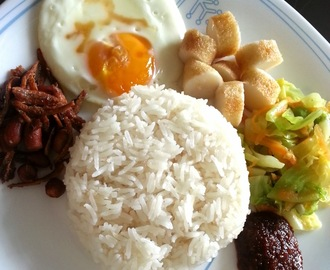 Nasi Lemak - Low Fat Version (Fragrant Coconut Milk Rice)