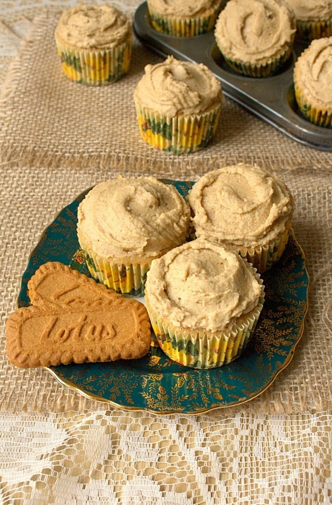 Speculaas Spiced Cupcakes