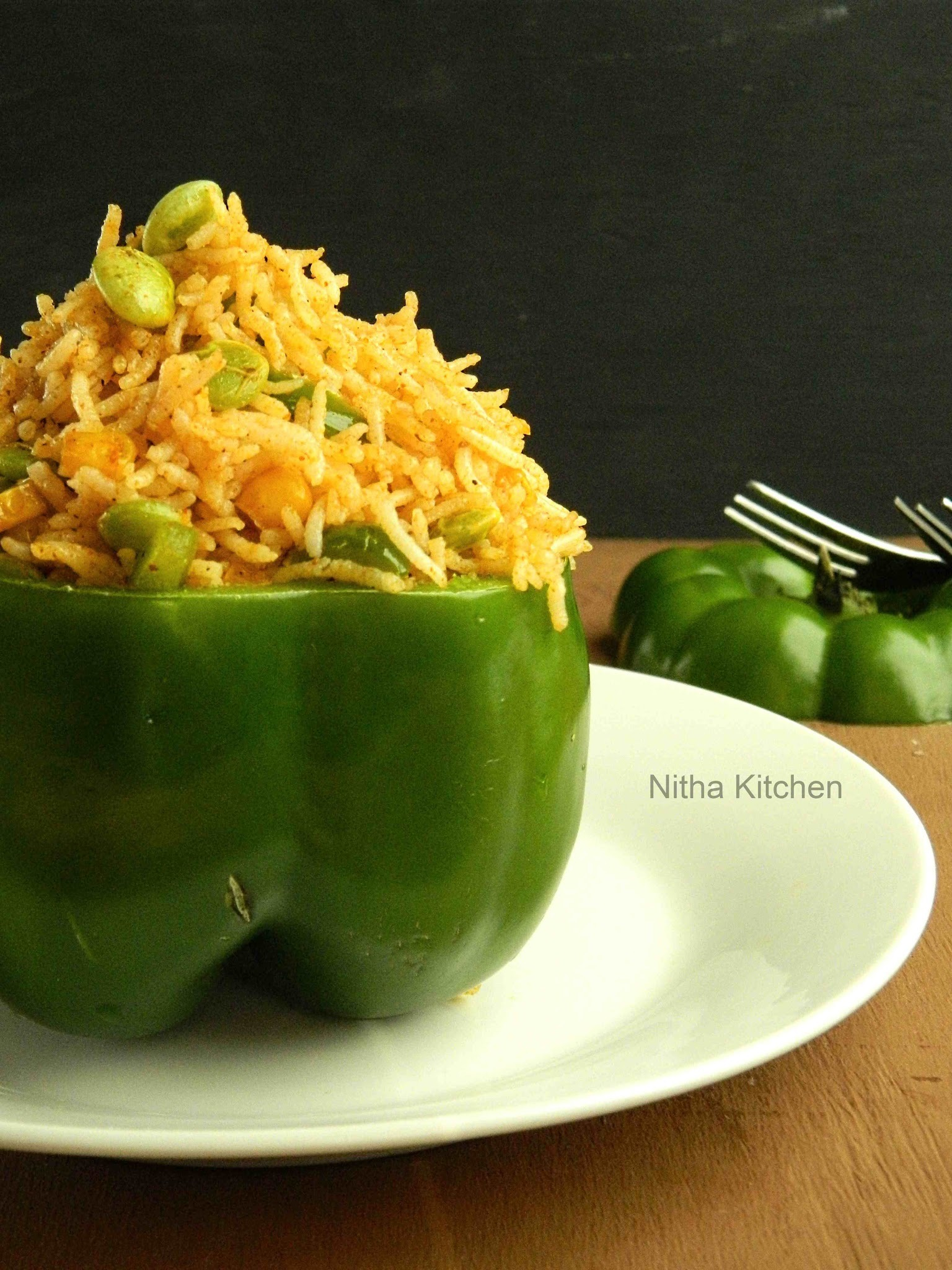 Capsicum Corn Rice | Easy and Quick Lunch Box Special Recipe