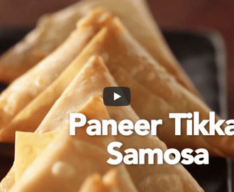 Paneer Tikka Samosa Recipe Video