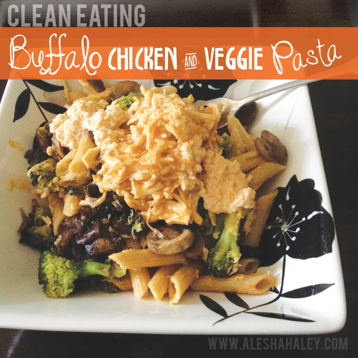 Buffalo Chicken Pasta {Clean Eating}
