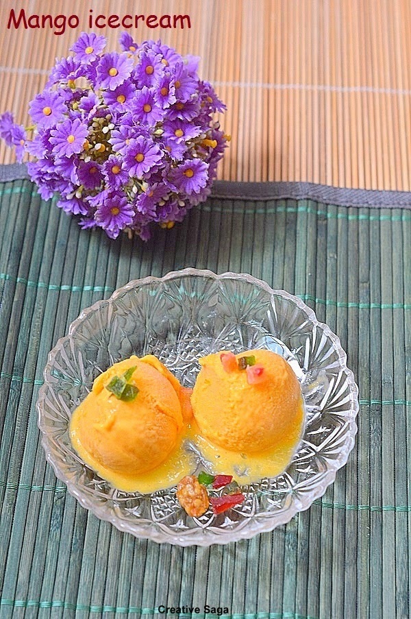 Mango icecream recipe (version 2) - No machine required