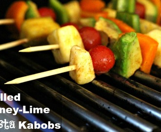 Meatless Monday: Grilled Honey Lime Fiesta Kabobs