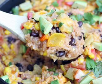 One Pan Veggie Burrito Bowl