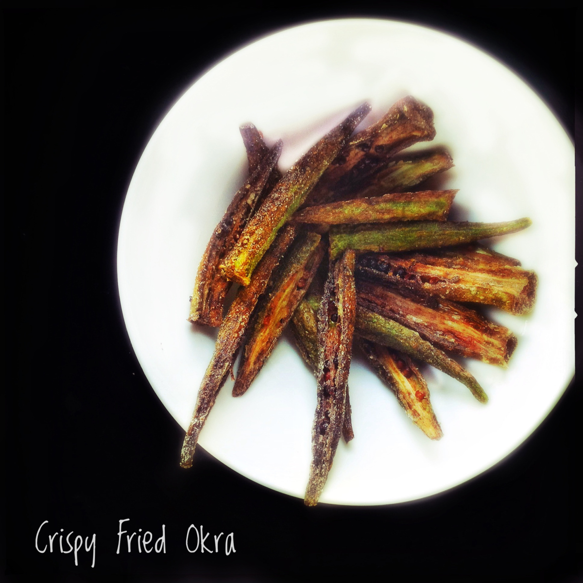 Crisp Okra Pachadi | Fried Okra with Yoghurt and Spices