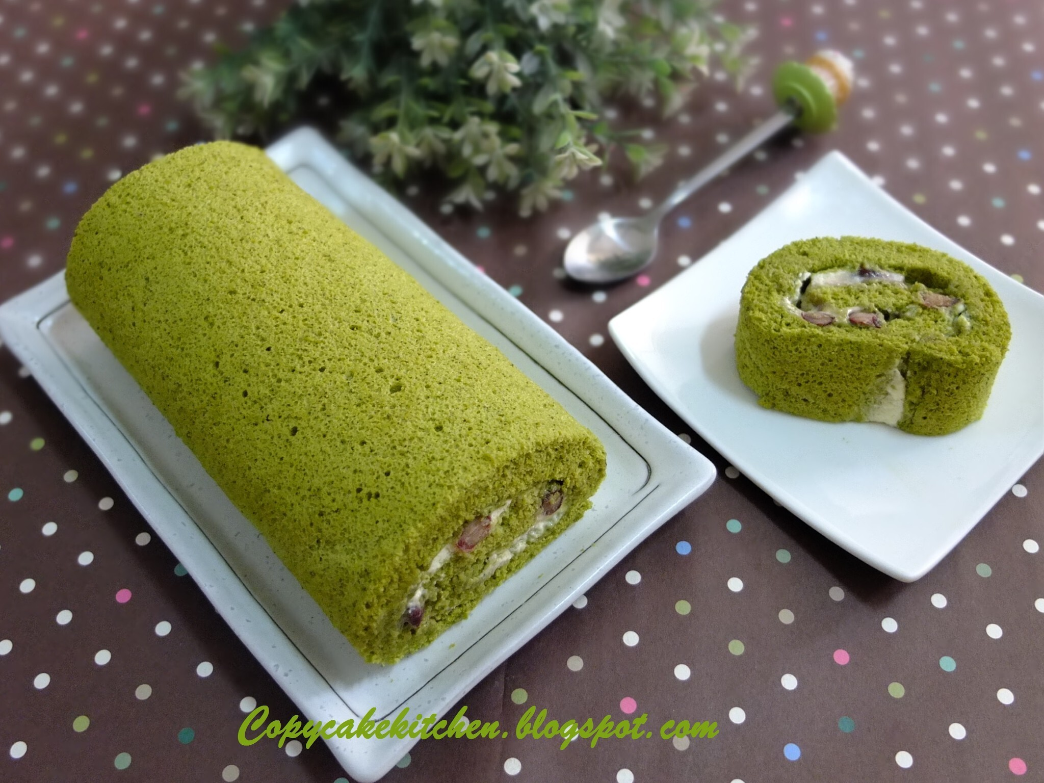 Green Tea Swiss Roll (綠茶蛋糕卷)AB #30: It's Tea Time!