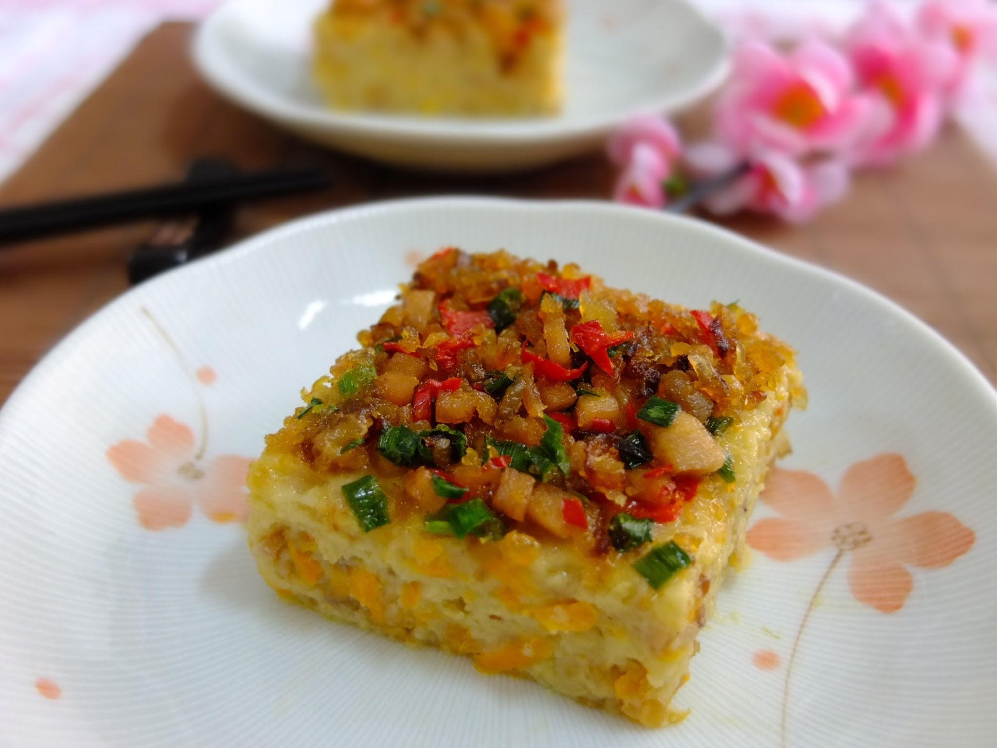 Steamed Carrot and Radish cake (红白萝卜糕)